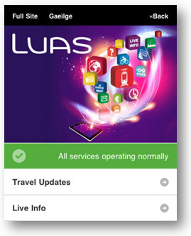Luas Mobile Site